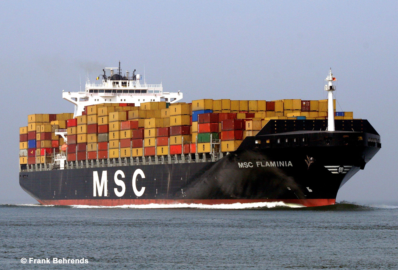 Fortunes de mer msc flaminia 2012 for Porte conteneur